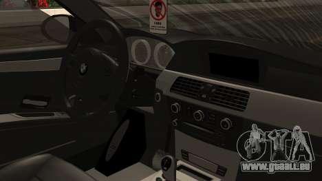 BMW M5 E60 Vossen v1 pour GTA San Andreas vue arrière