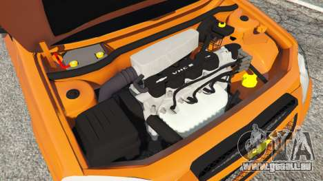 GTA 5 Chevrolet Celta arrière droit vue de côté