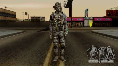 CoD Custom Ghost Retextured pour GTA San Andreas deuxième écran