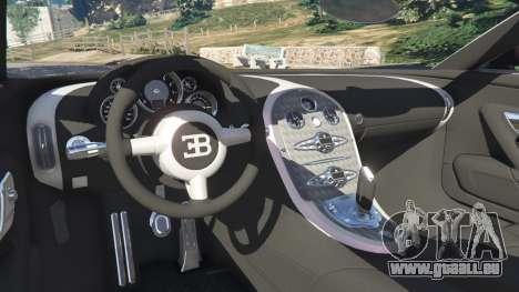 GTA 5 Bugatti Veyron Grand Sport v4.0 arrière droit vue de côté