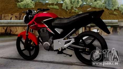 Honda Twister 2014 pour GTA San Andreas laissé vue