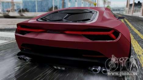 Lamborghini Asterion 2015 Concept für GTA San Andreas Rückansicht