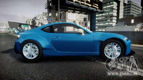 Subaru BRZ Rocket Bunny für GTA 4 linke Ansicht