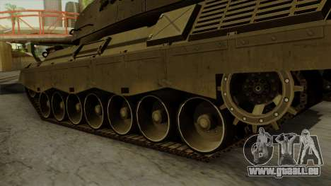Leopard 1A5 pour GTA San Andreas sur la vue arrière gauche