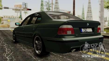 BMW 530D E39 1999 Mtech pour GTA San Andreas laissé vue