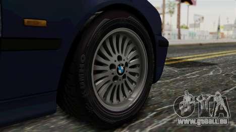 BMW 530D E39 1999 Stock pour GTA San Andreas sur la vue arrière gauche