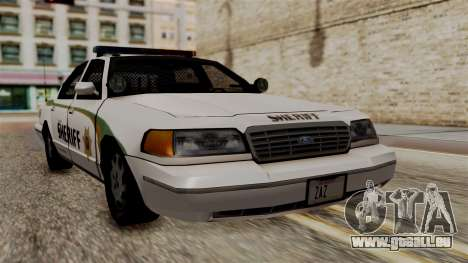 Ford Crown Victoria LP v2 Sheriff New pour GTA San Andreas