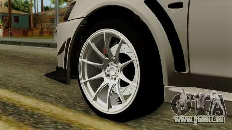 Mitsubishi Lancer Evolution X FQ400 Pro für GTA San Andreas zurück linke Ansicht