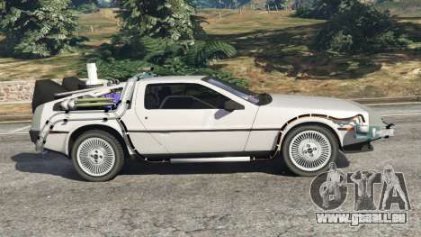 GTA 5 DeLorean DMC-12 Back To The Future v0.3 linke Seitenansicht