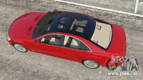 GTA 5 Mercedes-Benz S550 W221 v0.4.1 [Alpha] vue arrière