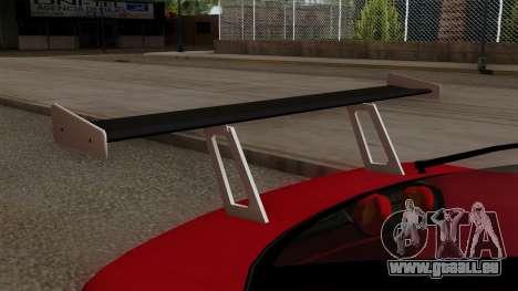 Nissan 180SX Street Golden Rims für GTA San Andreas Rückansicht