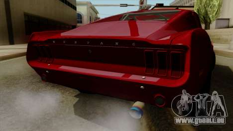 Ford Mustang Fastback pour GTA San Andreas vue intérieure