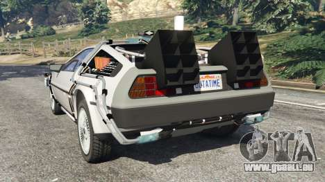 GTA 5 DeLorean DMC-12 Back To The Future v0.3 hinten links Seitenansicht