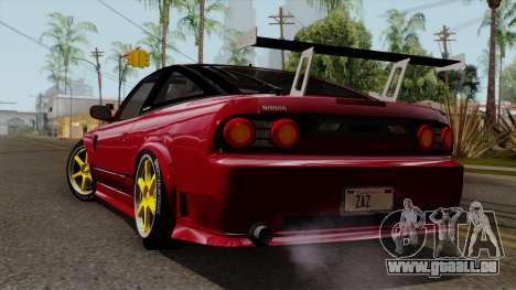 Nissan 180SX Street Golden Rims für GTA San Andreas linke Ansicht