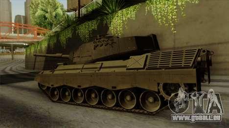 Leopard 1A5 pour GTA San Andreas laissé vue