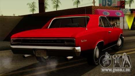 Chevrolet Chevelle SS396 1966 pour GTA San Andreas laissé vue