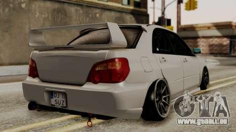 Subaru Impreza WRX STI HQ pour GTA San Andreas laissé vue