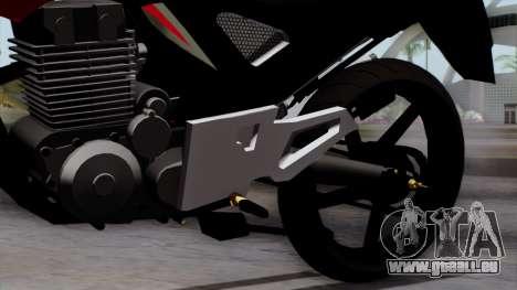 Honda Twister 2014 pour GTA San Andreas vue de droite