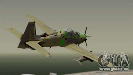 EMB-314 Super Tucano Factory USA für GTA San Andreas linke Ansicht