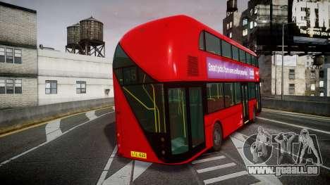 Wrightbus New Routemaster Abellio London pour GTA 4 Vue arrière de la gauche