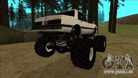 Willard Monster pour GTA San Andreas sur la vue arrière gauche