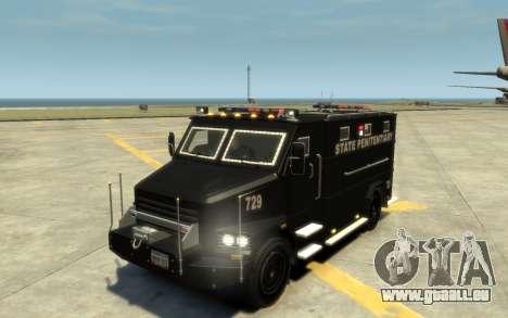 International 4000-Series SWAT Van pour GTA 4 vue de dessus