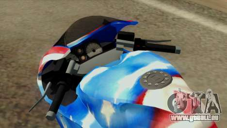 Bati America Motorcycle für GTA San Andreas Rückansicht