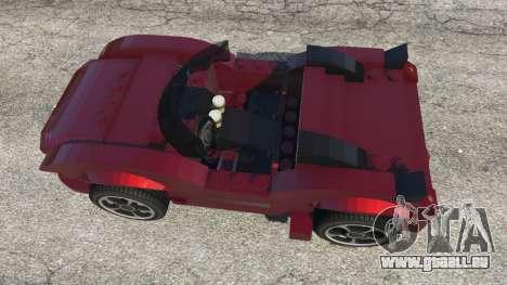 GTA 5 LEGO Car vue arrière
