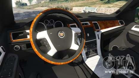 GTA 5 Cadillac Escalade ESV 2012 rechte Seitenansicht