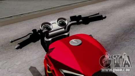 Honda Twister 2014 pour GTA San Andreas vue arrière