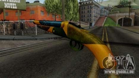 Brasileiro Sawnoff Shotgun v2 für GTA San Andreas zweiten Screenshot