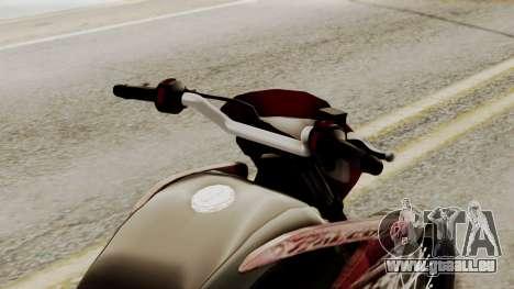 Honda NX400 Falcon für GTA San Andreas Rückansicht