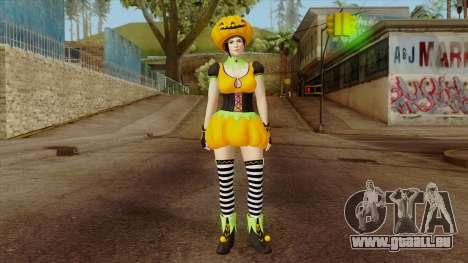 Dead or Alive 5 Mila Halloween pour GTA San Andreas deuxième écran