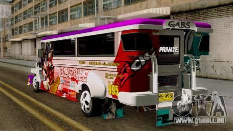 Znranomics - Costum Jeepney (Gabshop) pour GTA San Andreas laissé vue