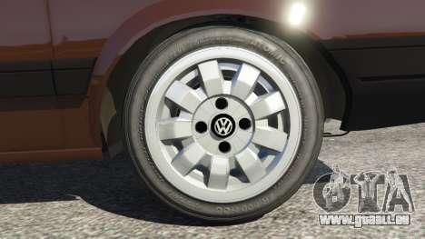 GTA 5 Volkswagen Gol GL 1.8 arrière droit vue de côté