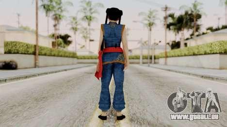 DOA 5 Pai Chan pour GTA San Andreas troisième écran