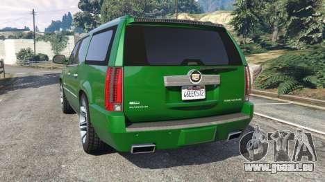 GTA 5 Cadillac Escalade ESV 2012 hinten links Seitenansicht