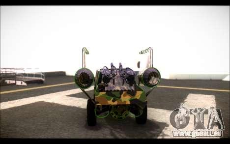 Camo Space Docker pour GTA San Andreas sur la vue arrière gauche