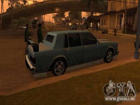 New Greenwood pour GTA San Andreas sur la vue arrière gauche