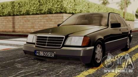 Mercedes-Benz W140 500SE 1992 pour GTA San Andreas