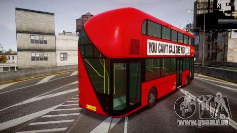 Wrightbus New Routemaster Go Ahead London pour GTA 4 Vue arrière de la gauche