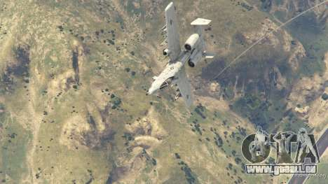 GTA 5 A-10A Thunderbolt II 1.1 huitième capture d'écran