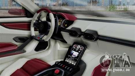 Lamborghini Asterion 2015 Concept für GTA San Andreas rechten Ansicht