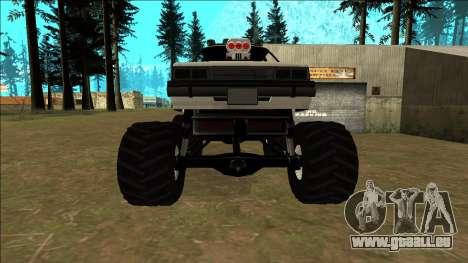 Willard Monster pour GTA San Andreas vue de dessus