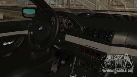 BMW 530D E39 1999 Mtech pour GTA San Andreas vue de droite