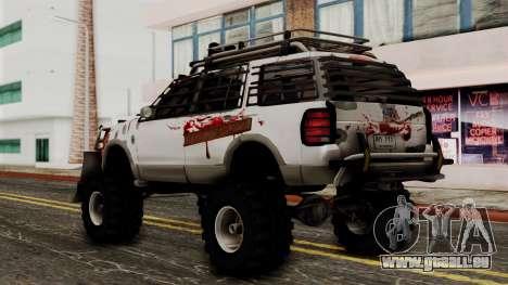 Ford Explorer Zombie Protection pour GTA San Andreas laissé vue