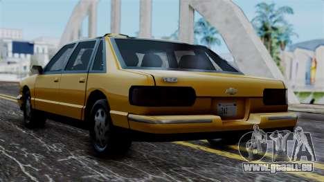 Taxi Casual v1.0 pour GTA San Andreas laissé vue