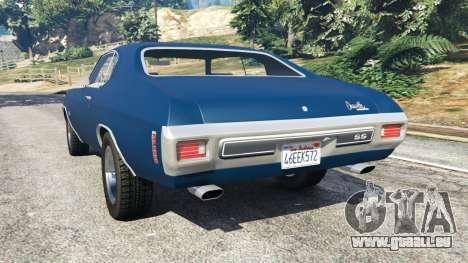 GTA 5 Chevrolet Chevelle SS 1970 v0.1 [Beta] arrière vue latérale gauche