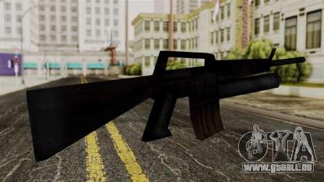 M16 from Delta Force pour GTA San Andreas deuxième écran