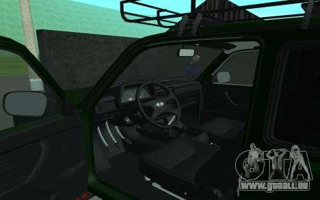 VAZ 21213 Niva pour GTA San Andreas vue arrière